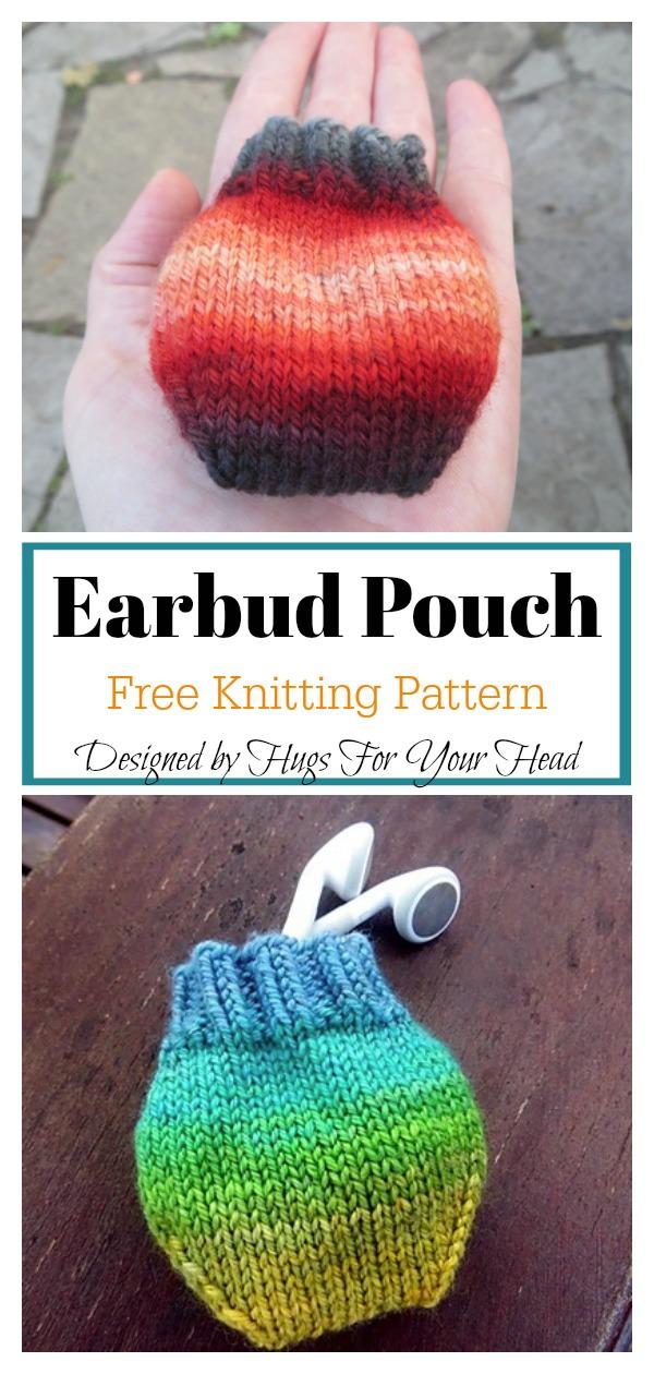 Earbud Pouch Free Knitting Pattern