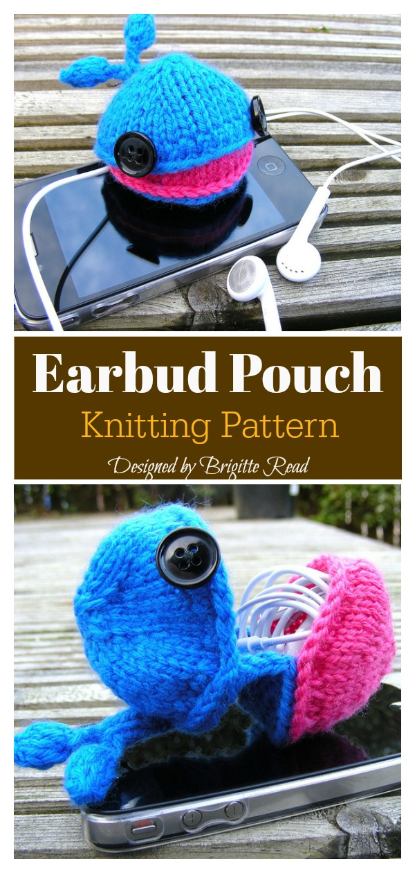 Earbud Pouch Knitting Pattern