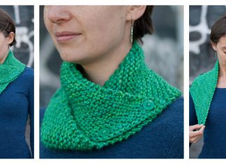 Easy Dissymmetry Cowl Free Knitting Pattern