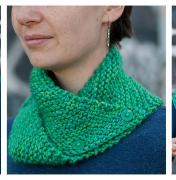 Easy Dissymmetry Cowl Free Knitting Pattern