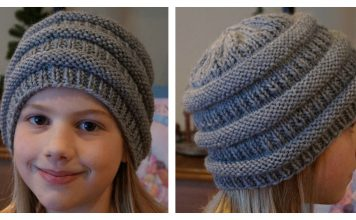 Easy Slouchy Beanie Hat Free Knitting Pattern