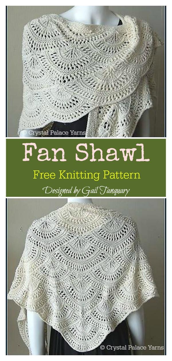 Fan Shawl Free Knitting Pattern