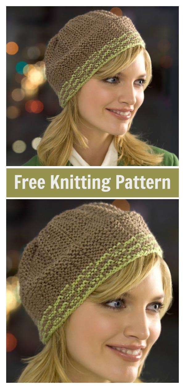 Garter Rib Beanie Hat Free Knitting Pattern
