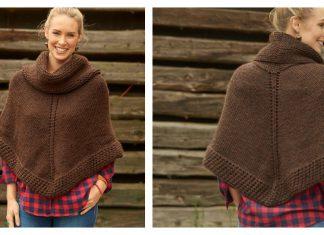 Getaway Poncho Free Knitting Pattern