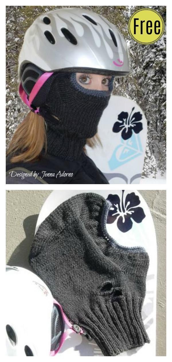 Helmet Liner Free Knitting Pattern