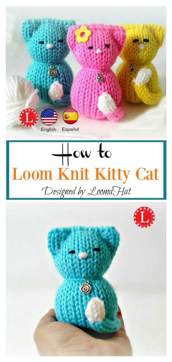 How to Loom Knit Kitty Cat Amigurumi
