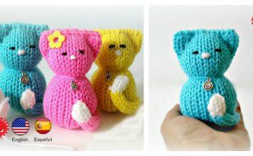 How to Loom Knitting Kitty Cat Amigurumi