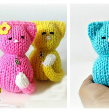 How to Loom Knitting Kitty Cat Amigurumi