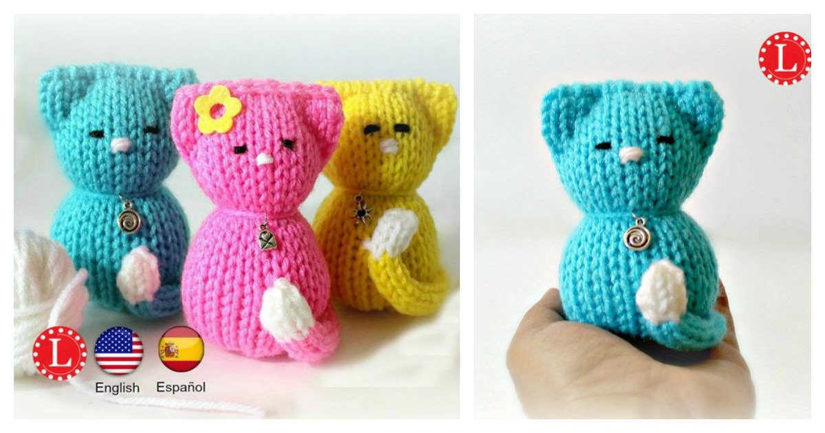 Lying kitten amigurumi pattern - Amigurumi Today | 630x1200