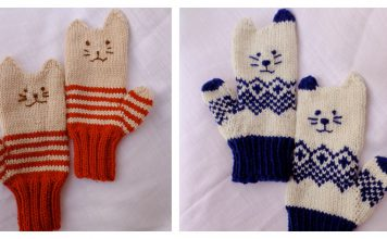 Kitten Mittens Free Knitting Pattern