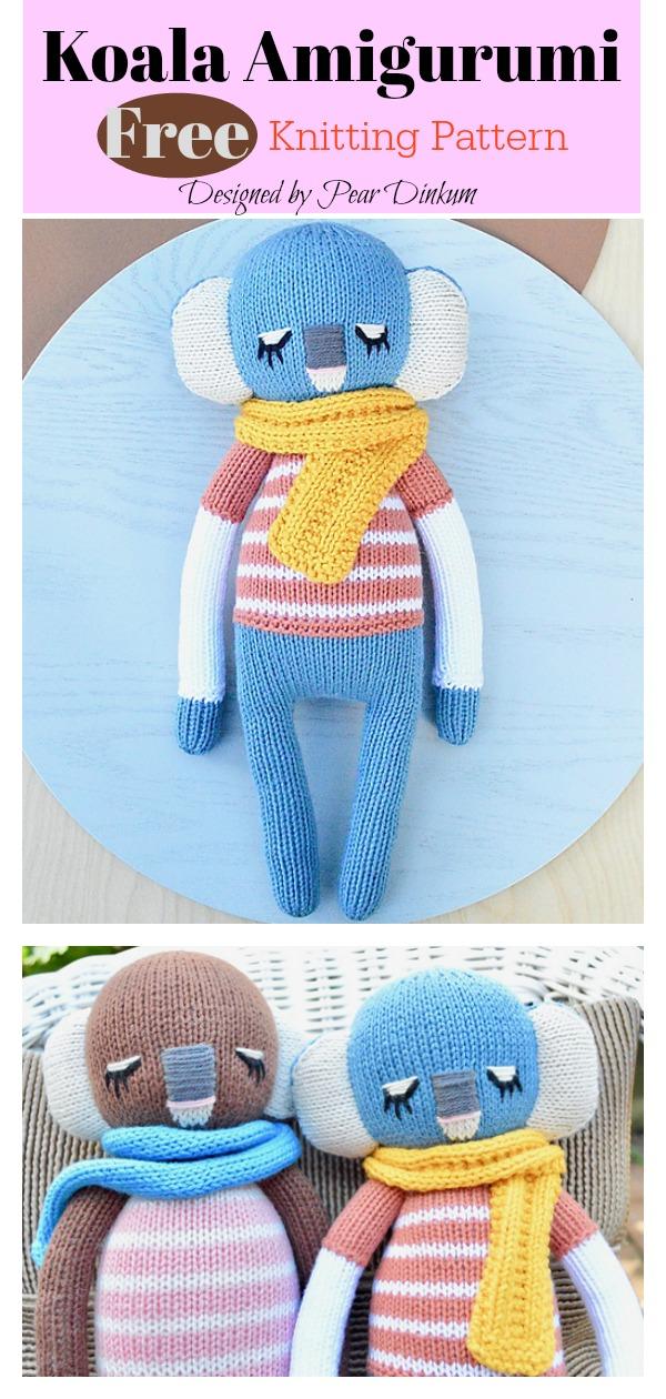 Koala Amigurumi Free Knitting Pattern