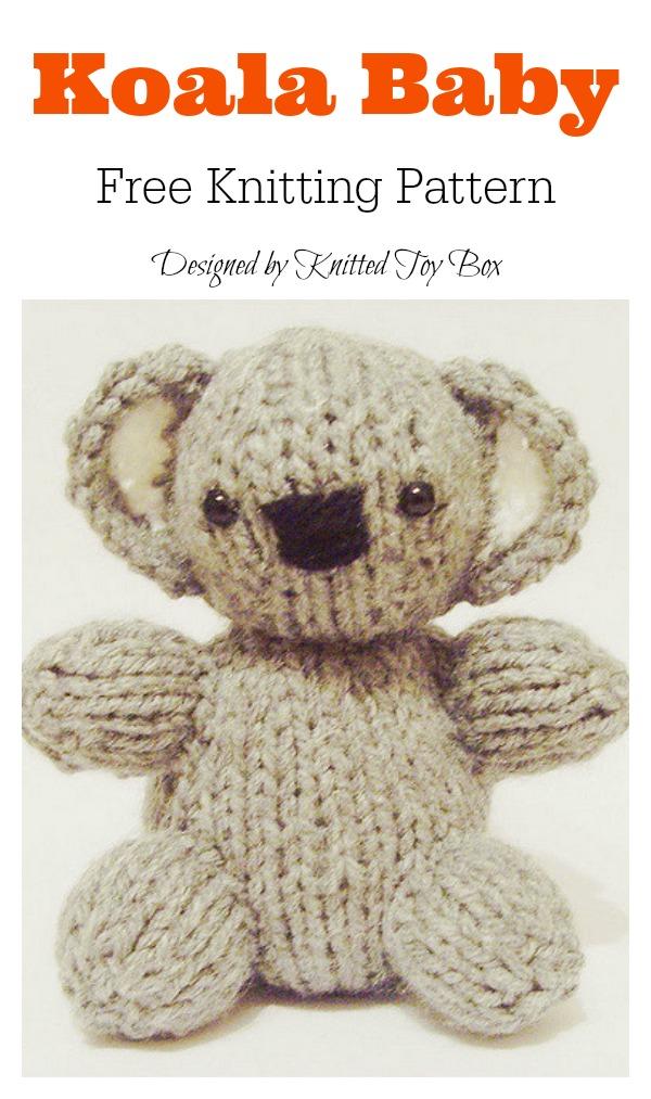 Koala Baby Amigurumi Free Knitting Pattern