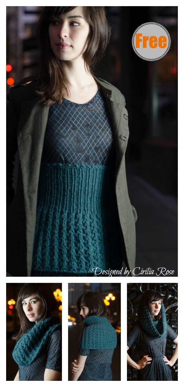 Makiko Belly Warmer and Cowl Free Knitting Pattern