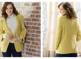 Mitered Jacket Free Knitting Pattern