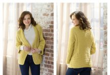 Mitered Jacket Free Knitting Pattern