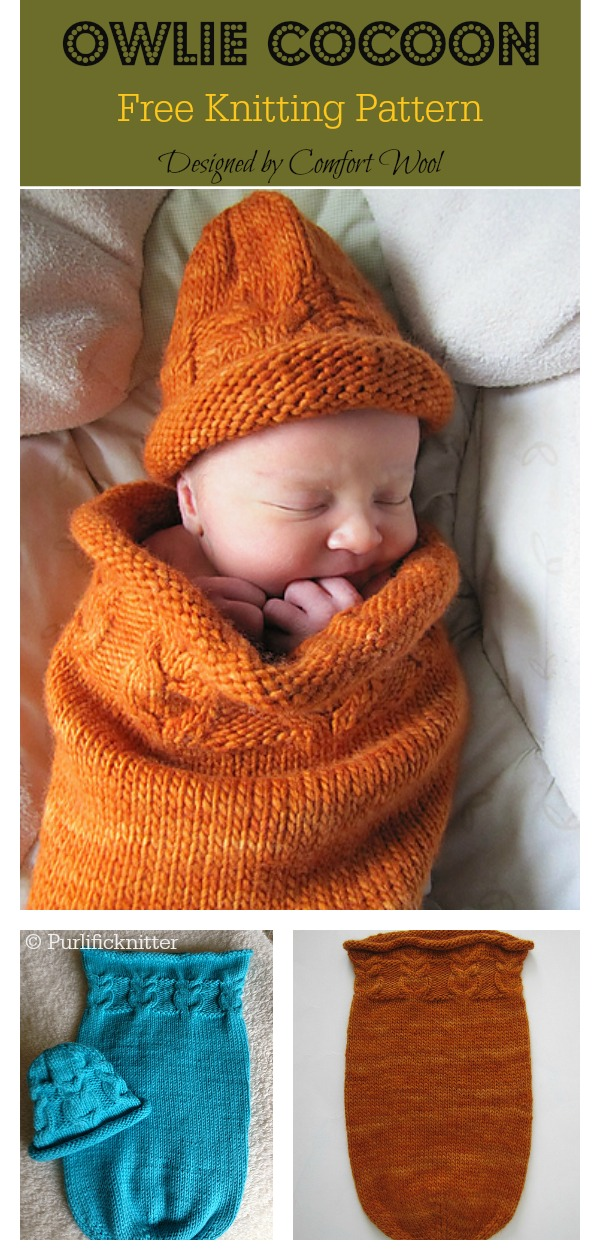 Owlie Cocoon Free Knitting Pattern
