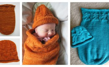 Owlie Cocoon and Hat Free Knitting Pattern