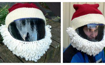 Santa Helmet Free Knitting Pattern