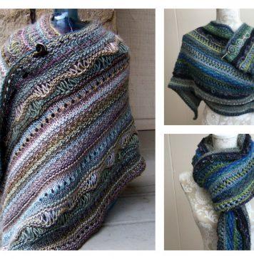 Stitch Sampler Shawl Free Knitting Pattern
