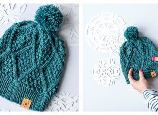 The Diamond Hat Free Knitting Pattern