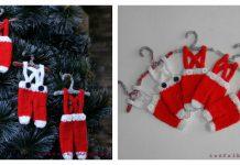 Tiny Santa Pants Ornament Free Knitting Pattern