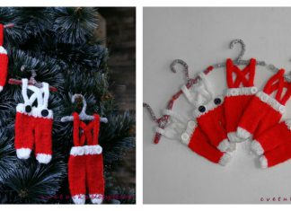 Tiny Santa Pants Ornament Free Knitting Pattern