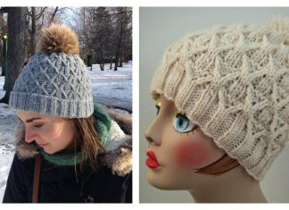 Wickerwork Hat Free Knitting Pattern