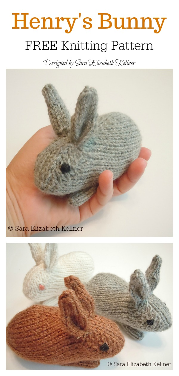 Amigurumi Bunny Rabbit Free Knitting Pattern