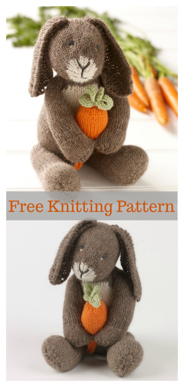 Amigurumi Bunny With Carrot Free Knitting Pattern