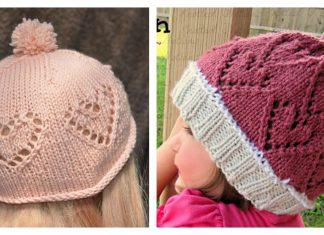 Baby Heart Hat Free Knitting Pattern