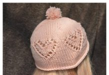 Baby Heart Hat Free Knitting Pattern