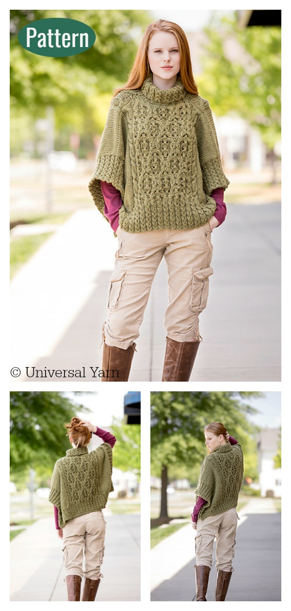 Catawba River Poncho Knitting Pattern