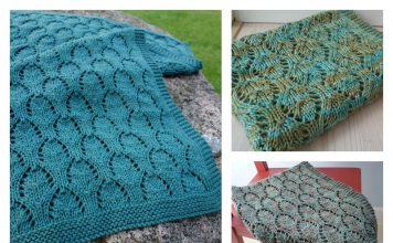 Chalice Baby Blanket Free Knitting Pattern