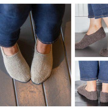 Chunky Slipper Socks FREE Knitting Pattern