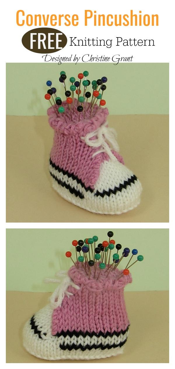 Converse Pincushion FREE Knitting Pattern