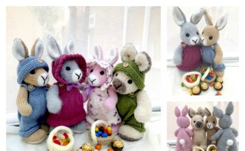 Elderberry Bunny Knitting Pattern