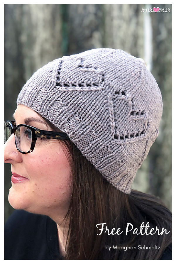Ewe Heart Hat Free Knitting Pattern