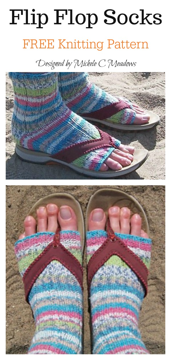 Flip Flop Socks Free Knitting Pattern