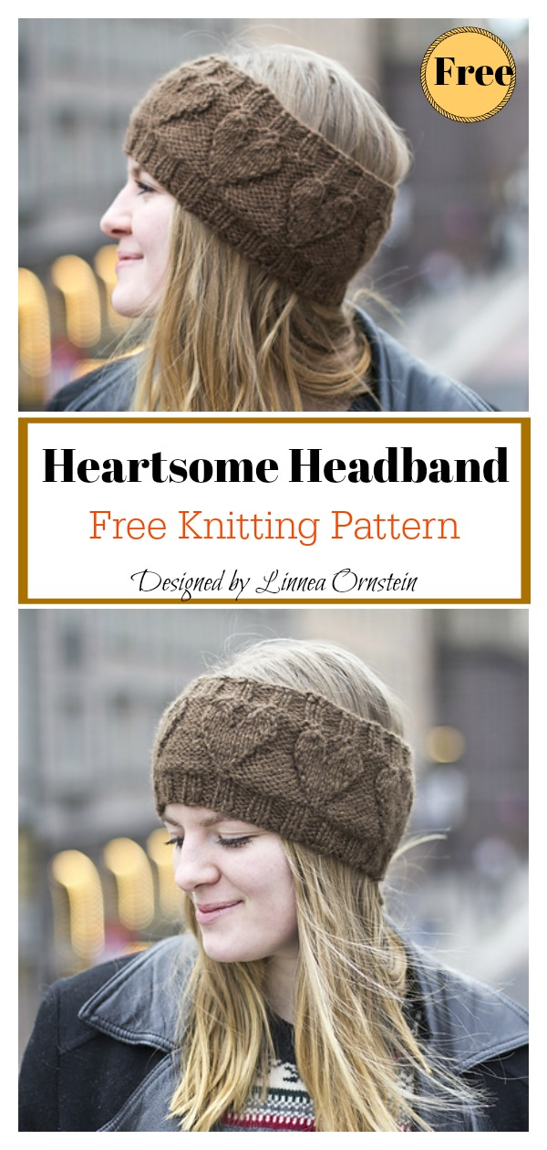 Heartsome Headband Free Knitting Pattern