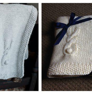 Heirloom Bunny Blanket FREE Knitting Pattern