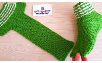 How to Knit Super Easy Unisex Slippers