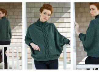 Kombu Poncho Free Knitting Pattern