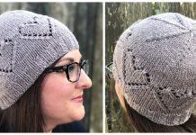 Lace Hearts Hat Free Knitting Pattern