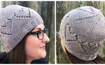 Lace Hearts Hat Free Knitting Pattern