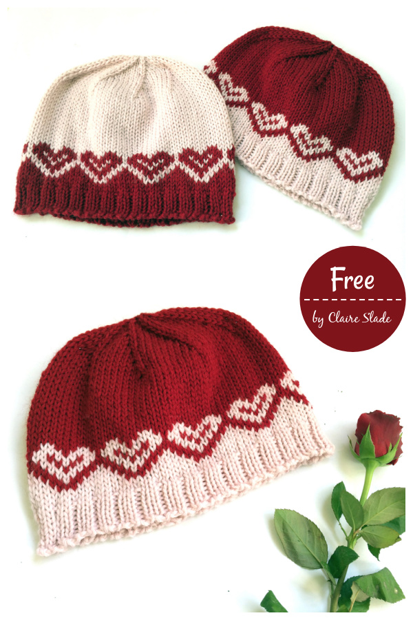 Milda Beanie Hat Free Knitting Pattern