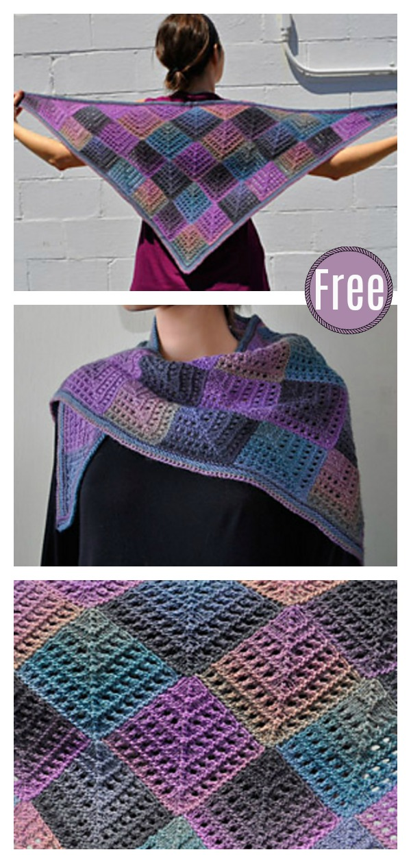 Mitered Eyelet Shawl Free Knitting Pattern