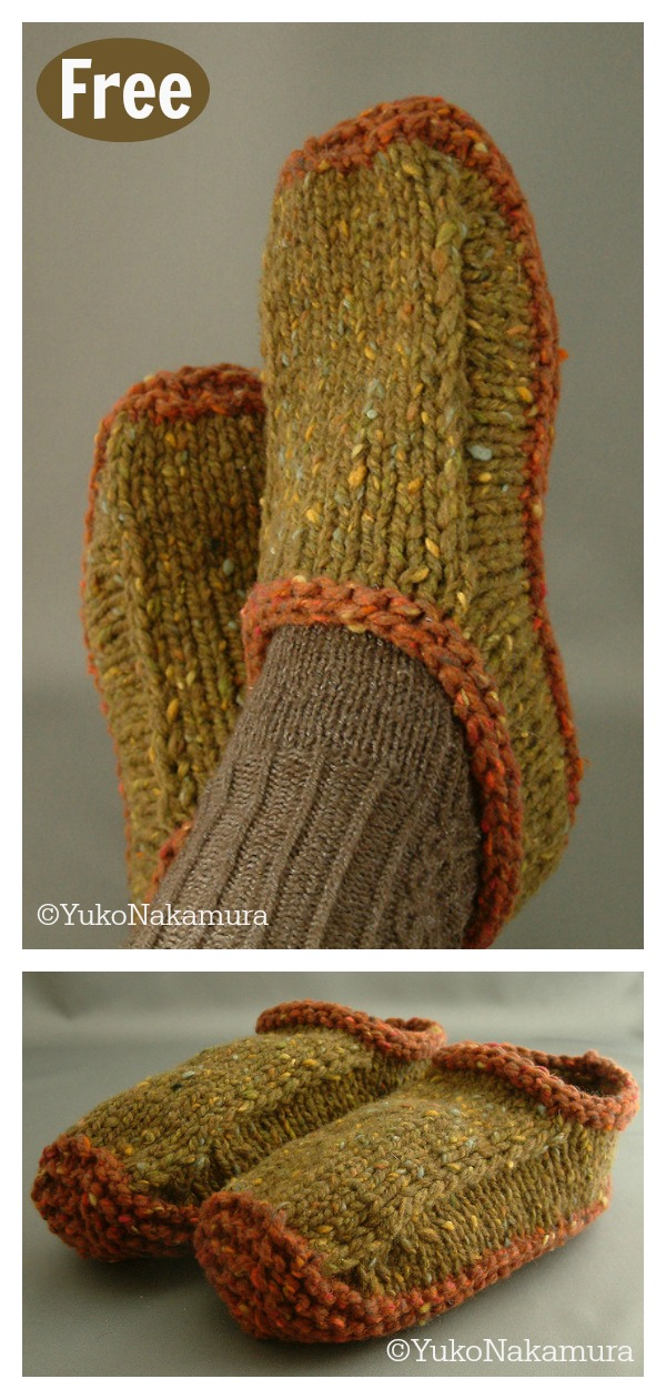 Non-felted Slippers FREE Knitting Pattern