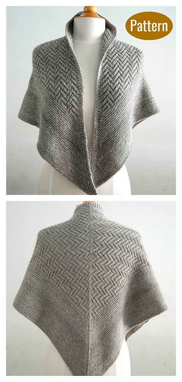 Pointed Firs Shawl Knitting Pattern