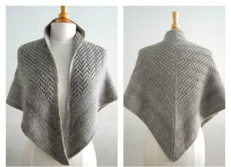 Pointed Firs Shawl Knitting Pattern