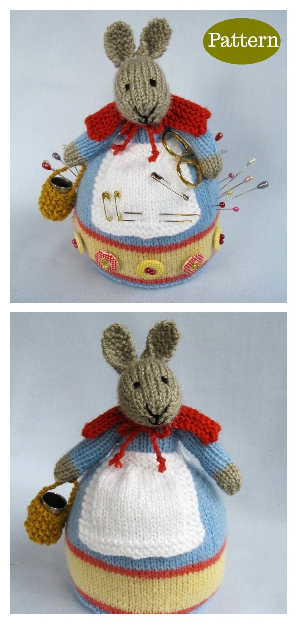 Rabbit Pincushion Knitting Pattern